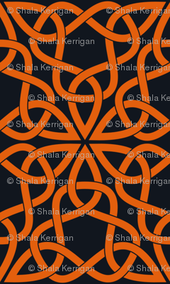 Triangle Knot Orange and Black