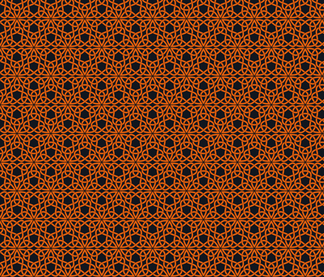 Triangle Knot Orange and Black fabric by shala on Spoonflower - custom fabric