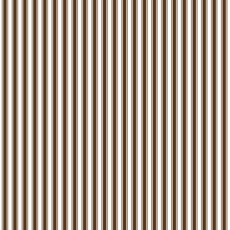 ticking stripes brown fabric by misstiina on Spoonflower - custom fabric