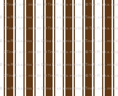 ticking stripes brown and white