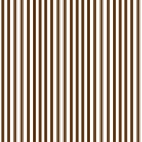 ticking stripes brown and white fabric by misstiina on Spoonflower - custom fabric