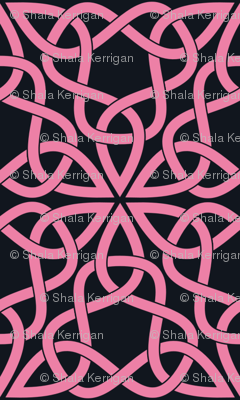 Triangle Knot Pink and Black