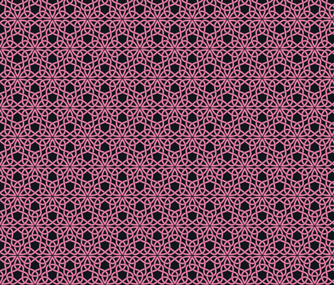 Triangle Knot Pink and Black fabric by shala on Spoonflower - custom fabric