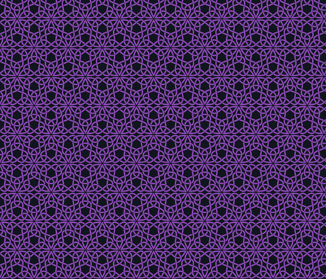 Triangle Knot Purple and Black fabric by shala on Spoonflower - custom fabric