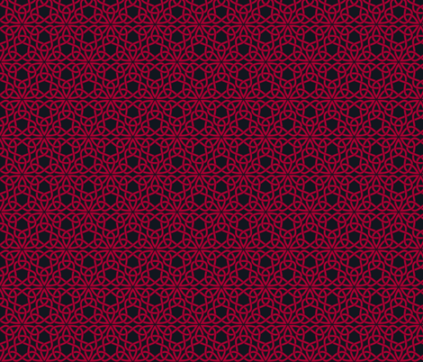 Triangle Knot Red and Black fabric by shala on Spoonflower - custom fabric