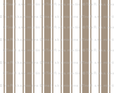 ticking stripes tan and white