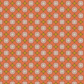 Xmas Lounge Tiles Coral and Pink