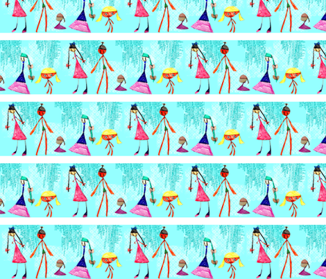 Maddy's Dolls - Runway fabric by heathermann on Spoonflower - custom fabric
