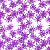 Random Flower Pattern in layers - purple shades