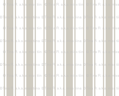 ticking stripes beige and white