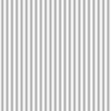 ticking stripes grey and white fabric by misstiina on Spoonflower - custom fabric