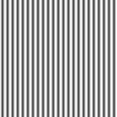 ticking stripes dark grey and white fabric by misstiina on Spoonflower - custom fabric