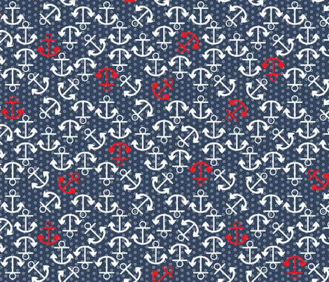 Anchors-Away-Blue fabric by mag-o on Spoonflower - custom fabric