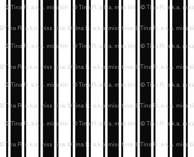ticking stripes black and white