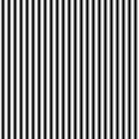 ticking stripes black and white fabric by misstiina on Spoonflower - custom fabric