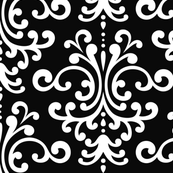 damask lg black and white