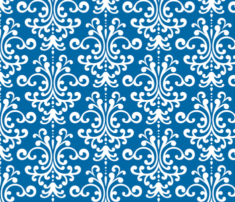 damask lg blue and white fabric by misstiina on Spoonflower - custom fabric