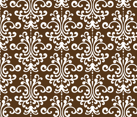 damask lg brown fabric by misstiina on Spoonflower - custom fabric