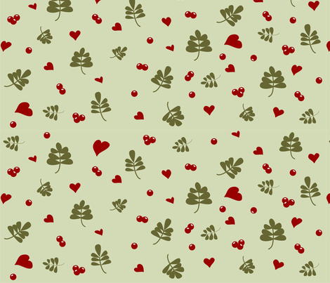 Cranberry Hearts  fabric by ruxique on Spoonflower - custom fabric