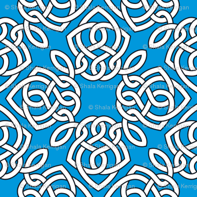 Square Knot Blue