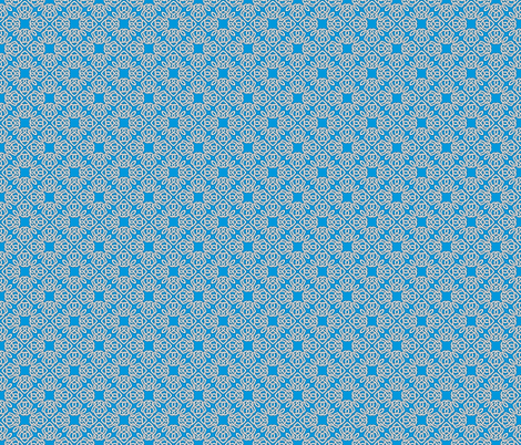 Square Knot Blue fabric by shala on Spoonflower - custom fabric