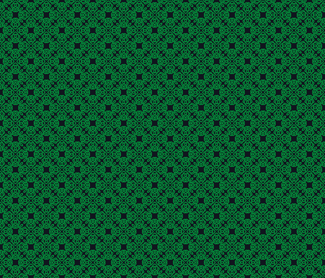 Square Knot Green and Black fabric by shala on Spoonflower - custom fabric