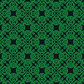 Square Knot Green and Black