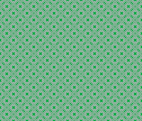 Square Knot Green fabric by shala on Spoonflower - custom fabric