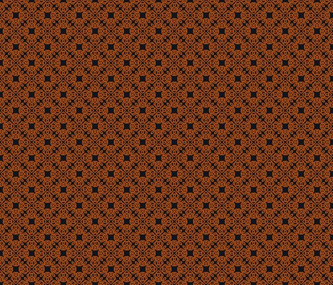 Square Knot Orange and Black fabric by shala on Spoonflower - custom fabric