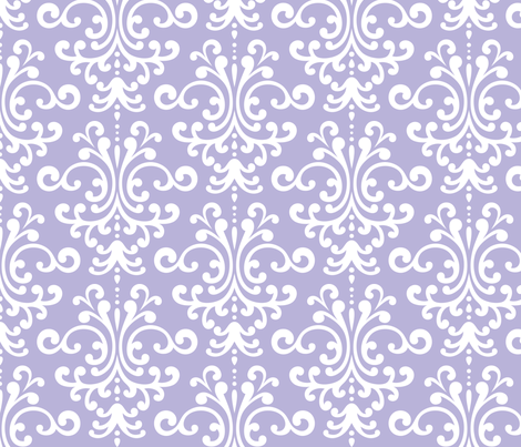 damask lg light purple and white fabric by misstiina on Spoonflower - custom fabric