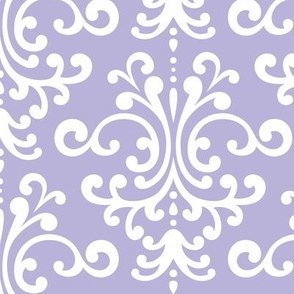 damask lg light purple and white