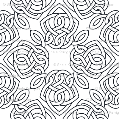 Square Knot Outline