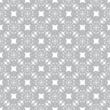 Square Knot Outline fabric by shala on Spoonflower - custom fabric