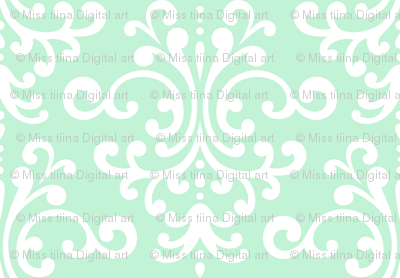 damask lg ice mint green