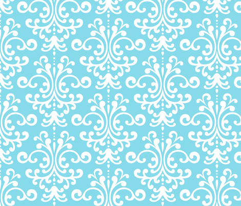 damask lg sky blue fabric by misstiina on Spoonflower - custom fabric