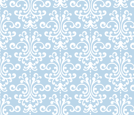 damask lg powder blue and white fabric by misstiina on Spoonflower - custom fabric