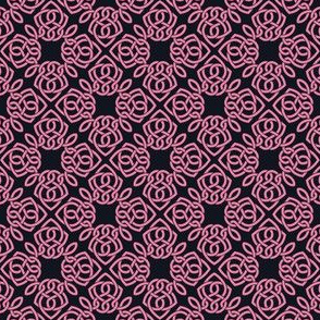Square Knot Pink and Black