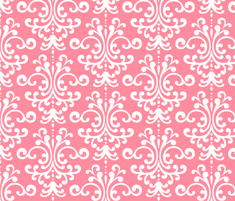 damask lg pretty pink and white fabric by misstiina on Spoonflower - custom fabric