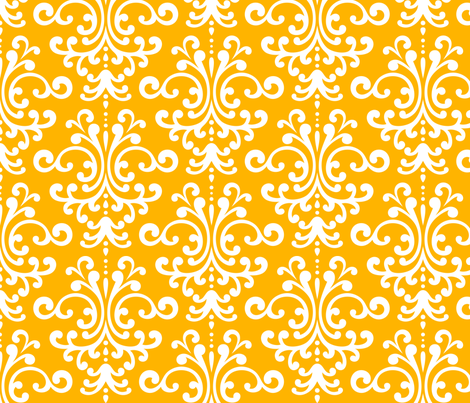 damask lg pumpkin orange and white fabric by misstiina on Spoonflower - custom fabric