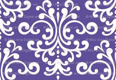damask lg purple
