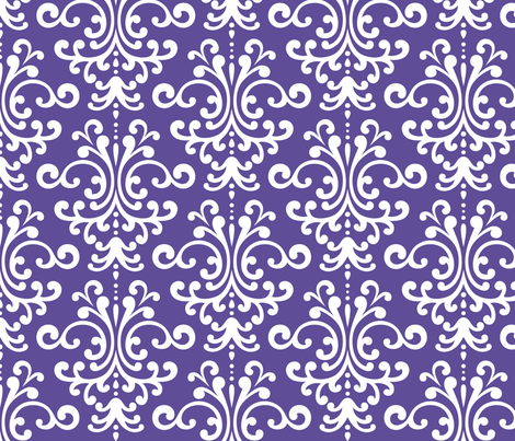 damask lg purple fabric by misstiina on Spoonflower - custom fabric