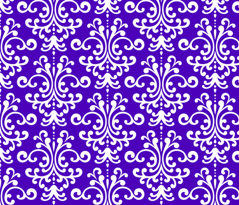 damask lg purple and white fabric by misstiina on Spoonflower - custom fabric