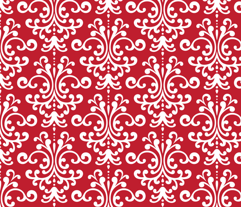 damask lg red and white fabric by misstiina on Spoonflower - custom fabric