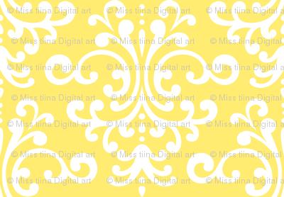 damask lg yellow