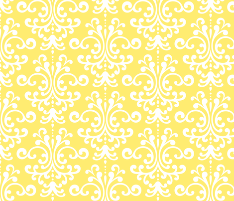 damask lg yellow fabric by misstiina on Spoonflower - custom fabric