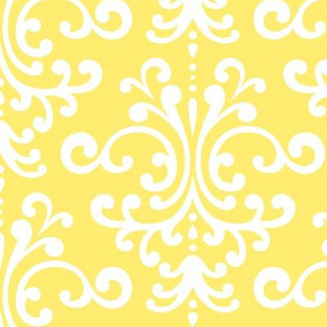 damask lg lemon yellow