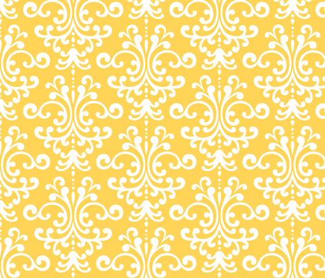 damask lg yellow and white fabric by misstiina on Spoonflower - custom fabric