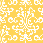 damask lg yellow and white