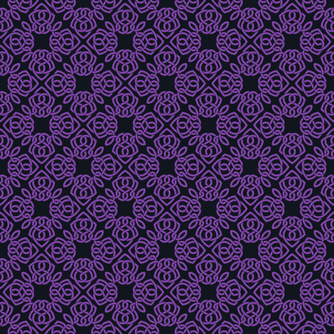 Square Knot Purple and lack fabric by shala on Spoonflower - custom fabric