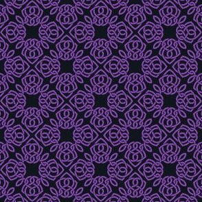 Square Knot Purple and lack
